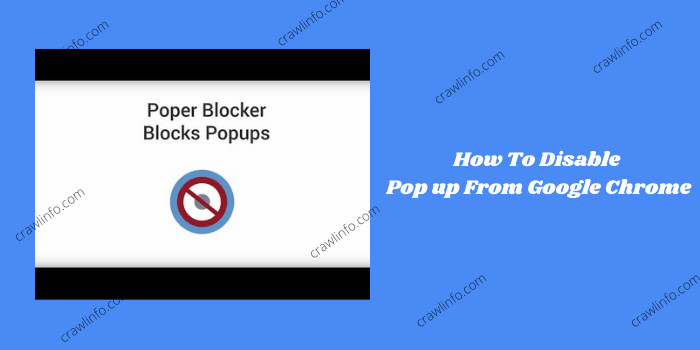 chrome pop up blocker