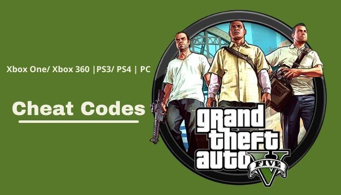 List Of GTA 5 Cheat Codes